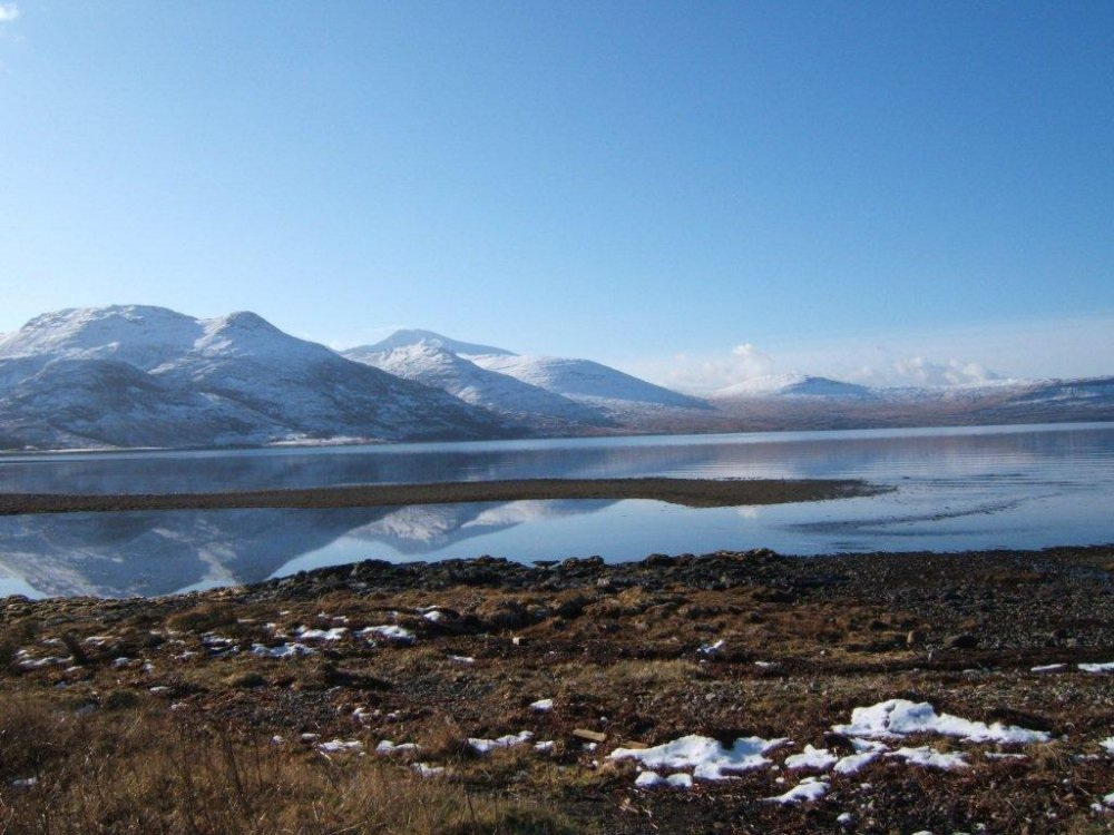 Snow on Loch na Keal